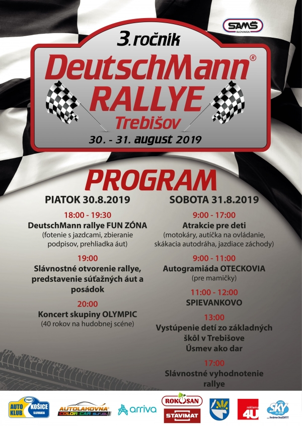 DeutschMann Rallye 2019 program